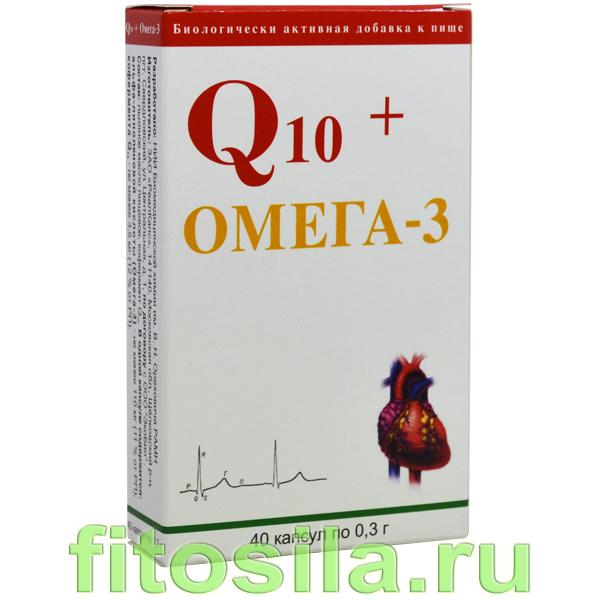 Q10 + Омега-3 БАД, № 40 капс. х 0,3 г