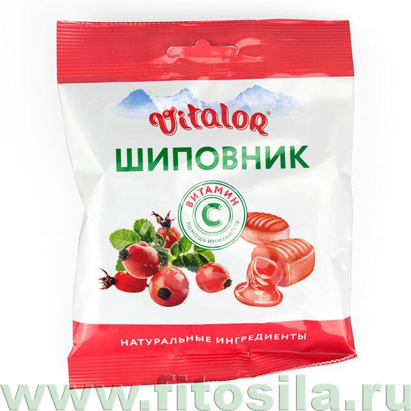 Виталор® Шиповник, леденцовая карамель с витамином С - БАД, 60 г