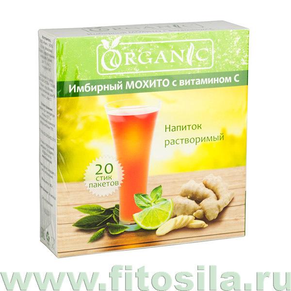 """Органик """"Имбирный Мохито с витамином C"""" напиток растворимый, 20 стик/п. х 5,0 г"""