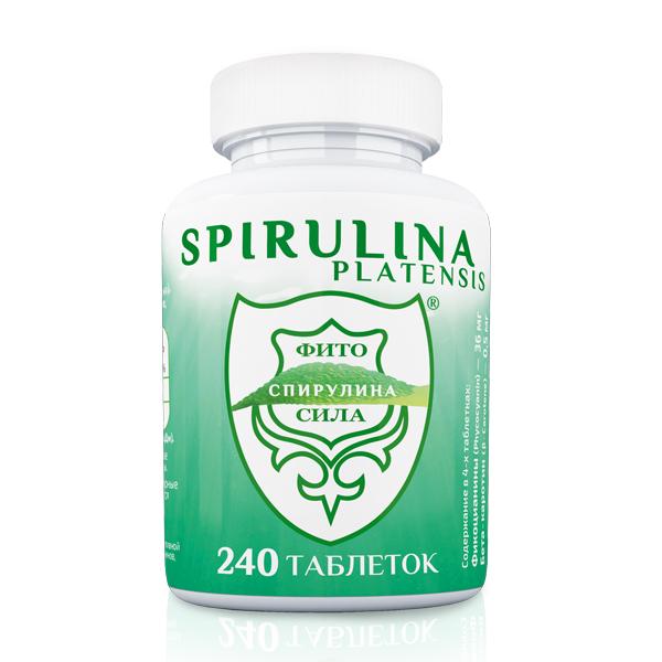 Спирулина - ФИТОСИЛА ® БАД, № 240 табл. х 0,35 г (БАНКА)