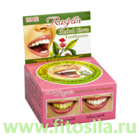 Зубная паста травяная Райсан с гвоздикой (Rasyan Herbal Clove Toothpaste), 25 г (в круглой упаковке)