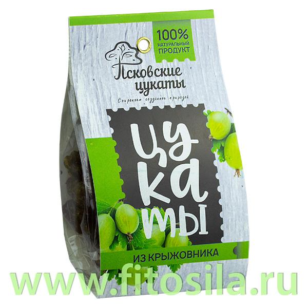 Цукаты из КРЫЖОВНИКА (крыжовник, сахар), 90г, Псковские цукаты
