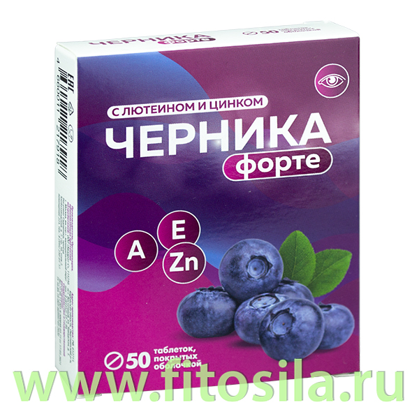 "Черника форте таб. №50 х 175 мг БАД ""Квадрат-С"""