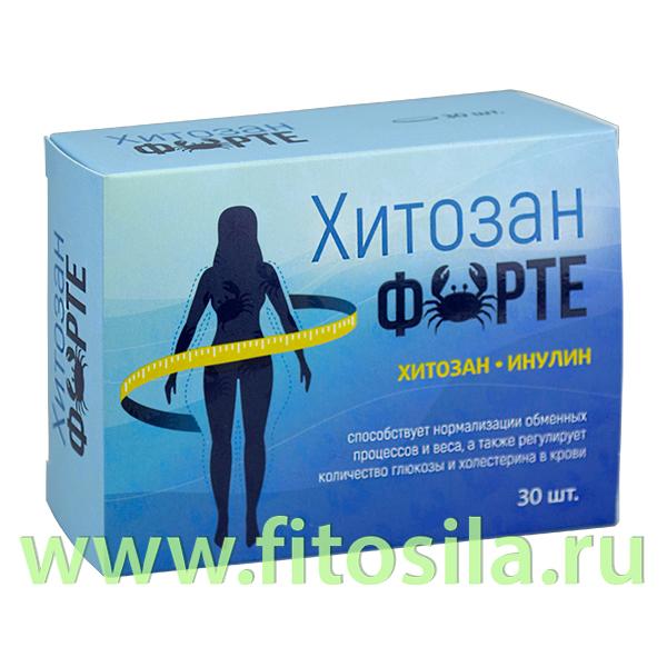 Хитозан Форте таб. №30 х 1400 мг БАД