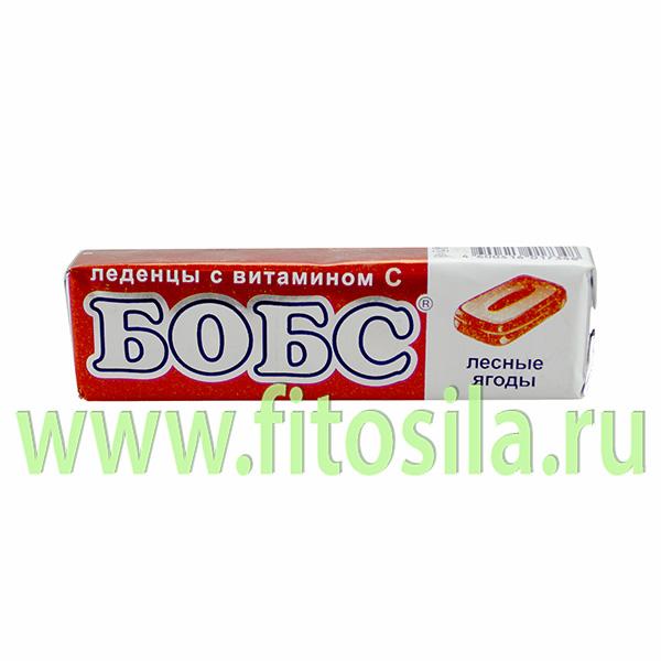 """Бобс """"Лесные ягоды"""" с витамином """"С"""" леденцы от кашля - БАД, 35 г, 10 шт."""