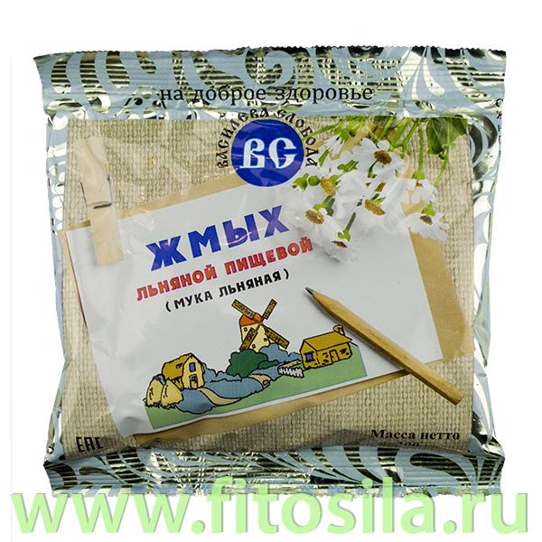 """Льняная мука (жмых льняной пищевой) 200 г, т. з. """"Василева Слобода"""", пакет"""