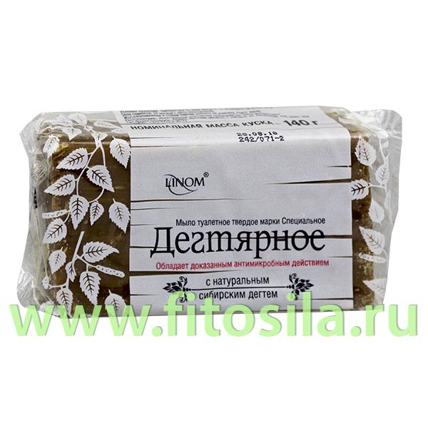 """Мыло туалетное твердое марки Специальное """"Дегтярное"""", 140 г, ТМ """"LINOM"""""""